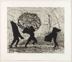 William Kentridge; Three Shadows in a Landscape