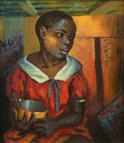 George Milwa Mnyaluza Pemba; Young Girl with Yellow Bowl