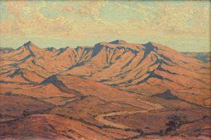 Jacob Hendrik Pierneef; Extensive Mountainous Landscape