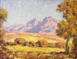 Edward Roworth; Autumn Trees in a Mountain Landscape