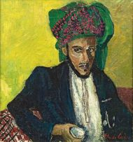 Freida Lock; Man with Green Turban, Zanzibar