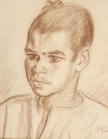 Maggie Laubser; Portrait of a Boy