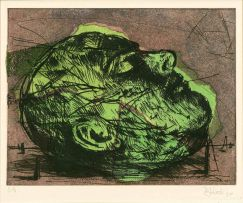 William Kentridge; Mayakovsky Head (Green)