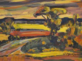 Stefan Ampenberger; River in an Extensive Landscape