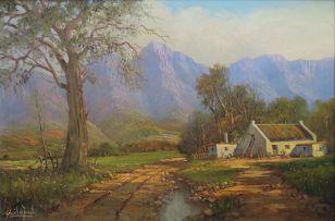 Gabriel de Jongh; Mountain Cottages