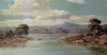 Otto Klar; Bushveld Scene with a Dam
