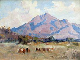 Allerley Glossop; Cattle in a Mountainous Landscape