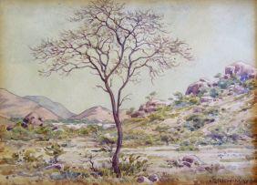 Erich Mayer; Tree in a Landscape