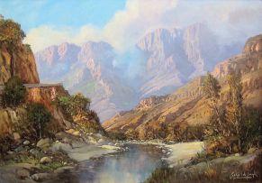 Gabriel de Jongh; Summer Stream