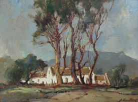 Johannes Oldert; Farmstead Under Blue Gums