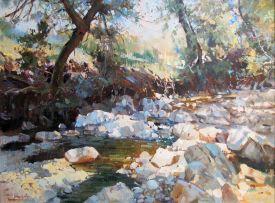 Dino Paravano; River Scene