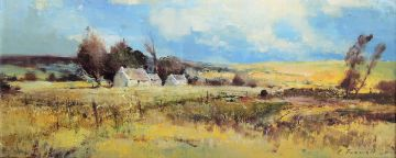 Christopher Tugwell; Extensive Landscape with Farm Houses