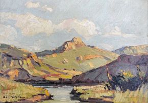 Don (Donald James) Madge; Mountain Landscape with River
