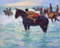 Alfred Palmer; Racehorses on Durban Beach