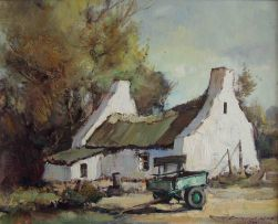 Christiaan Nice; Wagon before a Farm Cottage