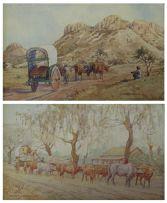 Erich Mayer; Ox Carts, a pair