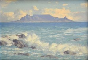 Willem Hermanus Coetzer; Table Mountain from Blaauwberg Strand, Milnerton