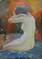 Sydney Carter; Seated Nude