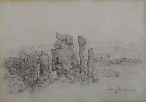 Hugo Naudé; Landscape with Eroded Boulders