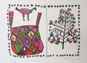 Dada Coex'ae Qgam; Bag, Bird and Tree