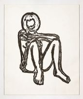 Tom Wesselmann; Monica Stitting Elbows on Knees, from the Brooklyn Academy of Music III series