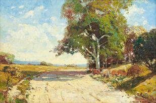 Adriaan Boshoff; Farm Road with Cattle
