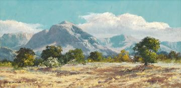 Otto Klar; Landscape with Mountains