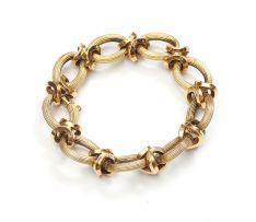 18ct gold bracelet, Italian, Nicolis Cola