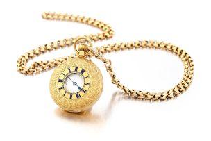 18ct gold half hunter keyless lever watch, Pleasance & Harper, Bristol