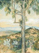 Maud Sumner; View over Kirstenbosch with Tree