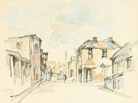 Gregoire Boonzaier; District Six, recto; Houses with Figures and Car, verso