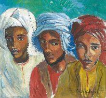 Freida Lock; Three Arabs