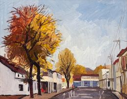 David Botha; Street Scene after the Rain