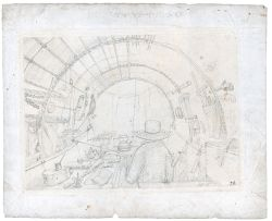 William Burchell; Inside the Artist's Wagon, Showing Burchell at Work
