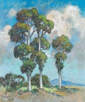 Conrad Theys; Landscape with Trees