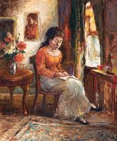 Alexander Rose-Innes; Woman Reading in an Interior