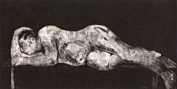 William Kentridge; Sleeper Black