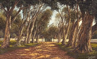 Tinus de Jongh; Avenue of Blue Gums, Cape