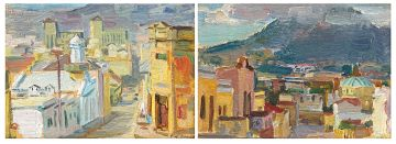 Alfred Krenz; Cape Street Scenes, a pair