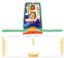 David Hockney; Red Square and the Forbidden City, from China Diary