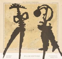 William Kentridge; William Kentridge, Goodman Gallery Exhibition Poster, Johannesburg March 2003