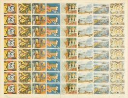 After Walter Battiss; Fook Stamp Collection