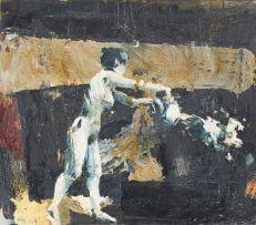 Minnette Vári; Nude Figure Emptying Jug