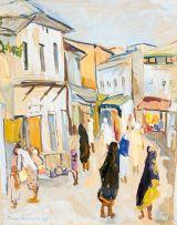 Irma Stern; Zanzibari Street Scene