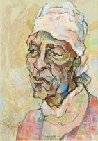 Gregoire Boonzaier; Bediende met Wit Kopdoek