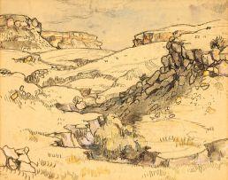 Gregoire Boonzaier; Rocky Landscape