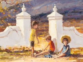 Christiaan Nice; Children at a Gate Post