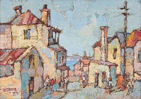 Gregoire Boonzaier; House and Table Bay, de Villiers St. Dist. Six, C.Town