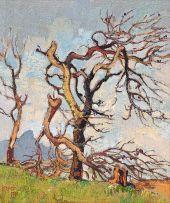 Gregoire Boonzaier; Windswept Trees