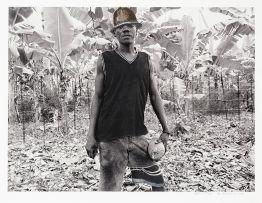 Sam Nhlengethwa in collaboration with Zwelethu Mthethwa; Boy with Helmet